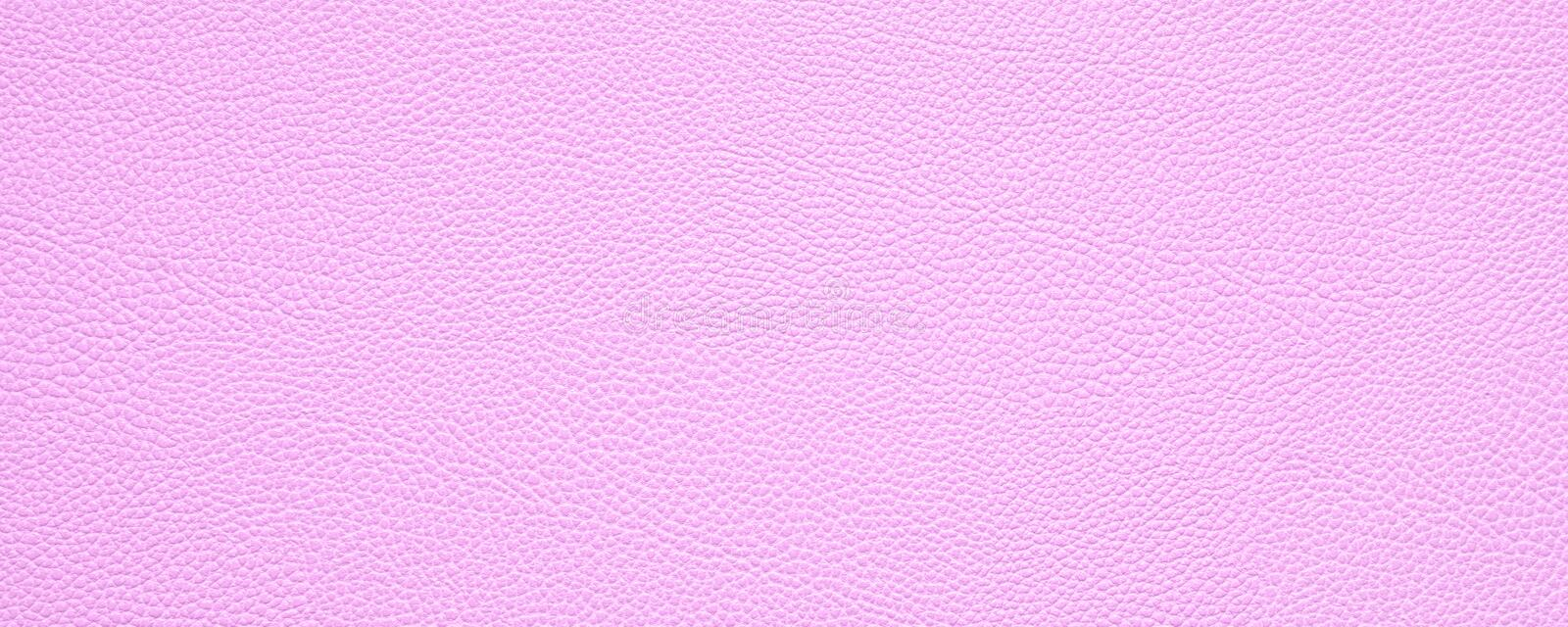 Blank pink leather texture background banner with copy space vector illustration