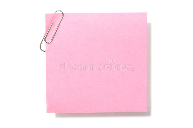 Download Blank Pink Note stock photo. Image of list, sticky, organizer - 2310178