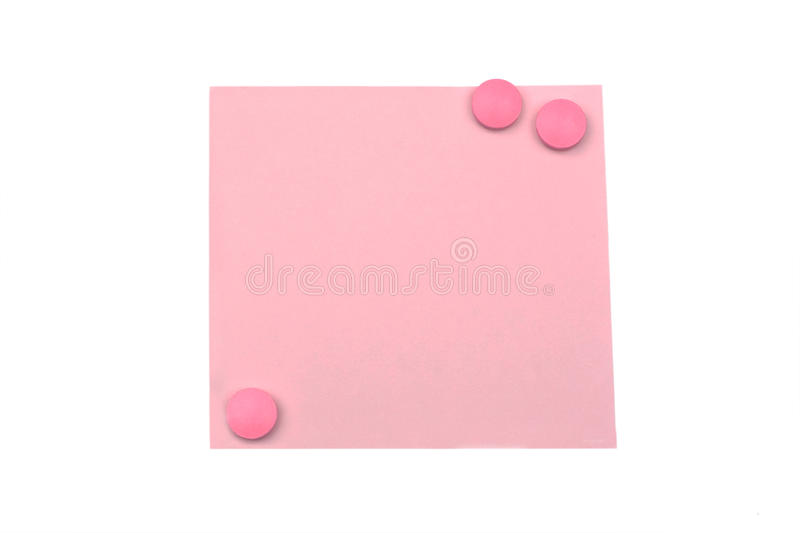 Download Blank Pink Note With Magnet Stock Images - Image: 12509364