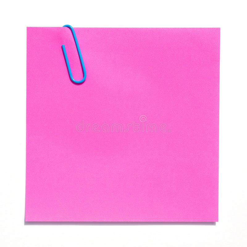 Download Blank pink sticky note stock image. Image of white, square - 26324761