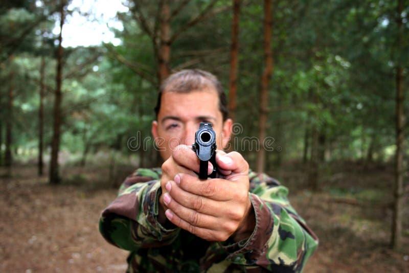 blank pistolhot för trumma royaltyfri foto