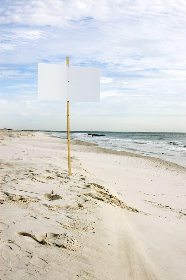 blank plażowy znak obraz stock