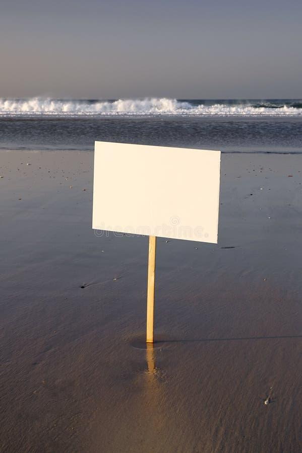 blank plażowy znak zdjęcia royalty free
