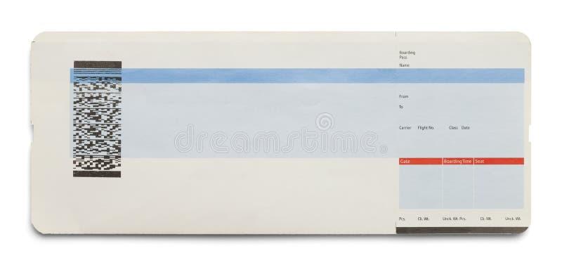 Blank Plane Ticket stock image