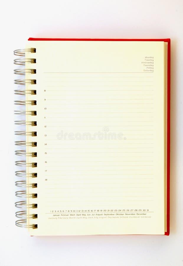 Blank planner