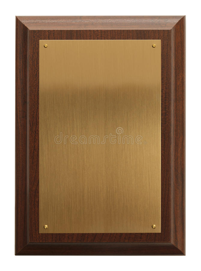 Blank Plaque royalty free stock photography