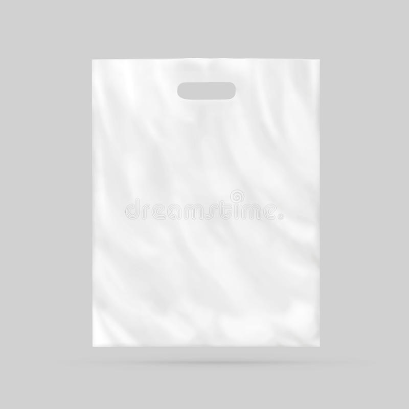 Blank Plastic Bag Mock Up . Empty White Polyethylene Pac