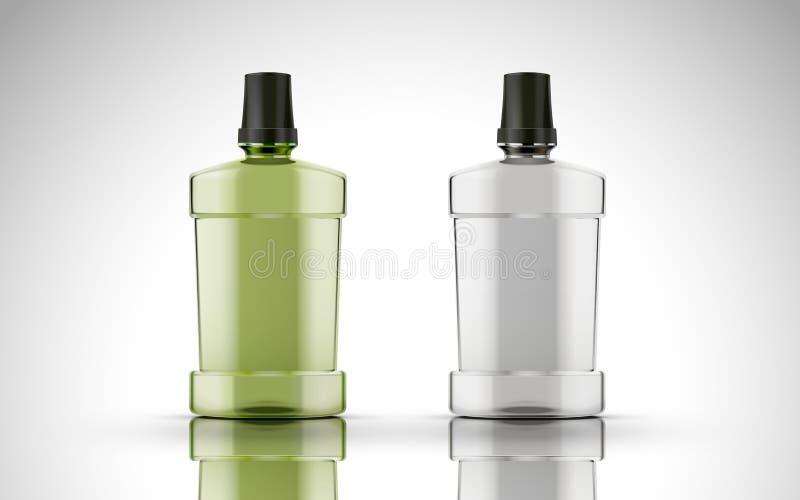 Blank plastic bottles vector illustration