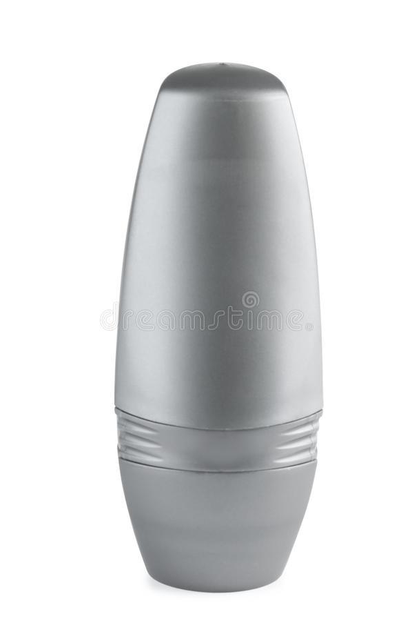 Blank plastic deodorant container on white royalty free stock photography