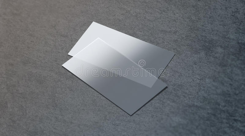 Download Blank Plastic Transparent Business Card Mock Up Stock Illustration