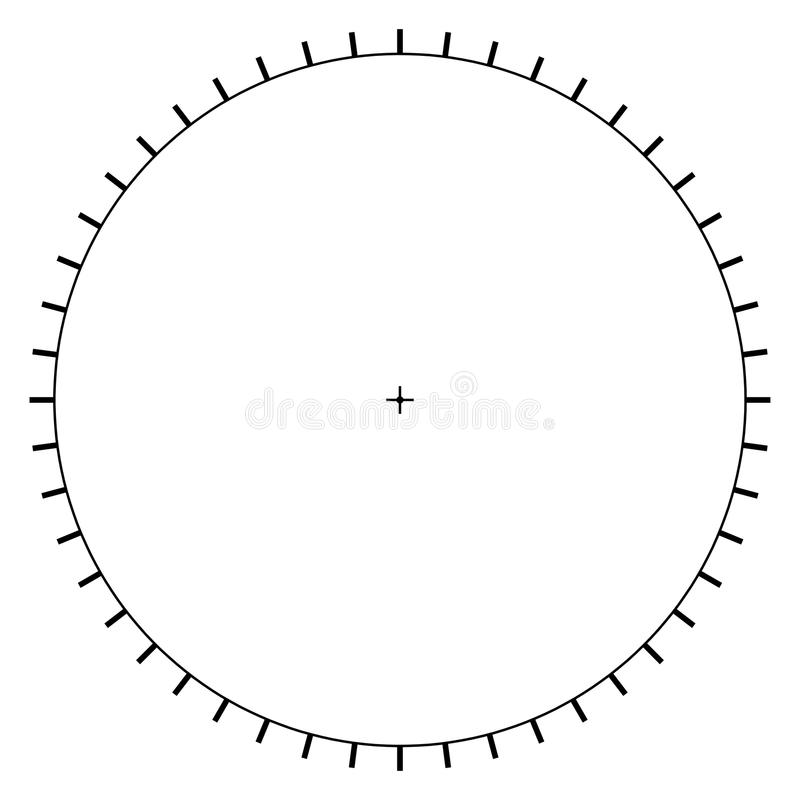 Blank Polar Graph Paper  Protractor  Pie Chart Vector Stock