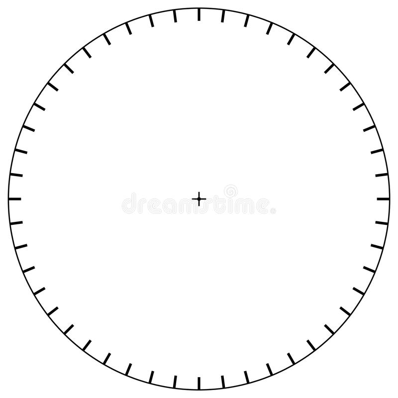 Blank Polar Graph Paper - Protractor - Pie Chart Vector Stock