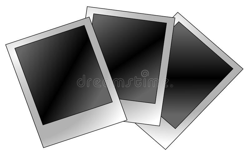 Blank polaroid vector illustration