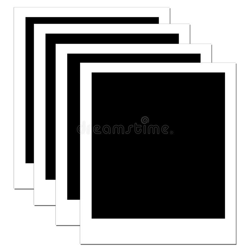 Download Blank Polaroid 4 stock illustration. Image of develop, memories - 795099