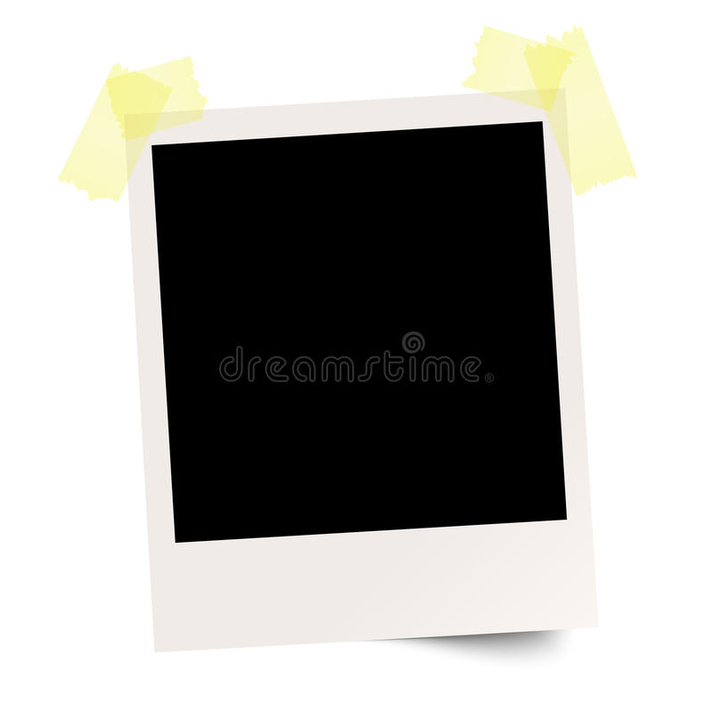 blank polaroid with adhesive tape stock vector illustration of rh dreamstime com polaroid vectoriel polaroid vector free