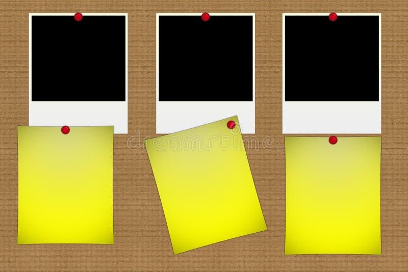 Blank polaroid photos royalty free illustration
