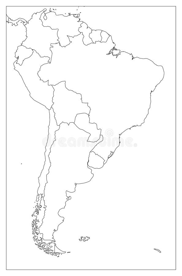 outline map south america