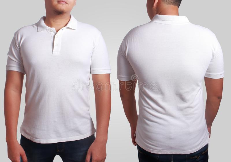 White polo shirt mockup template stock photography