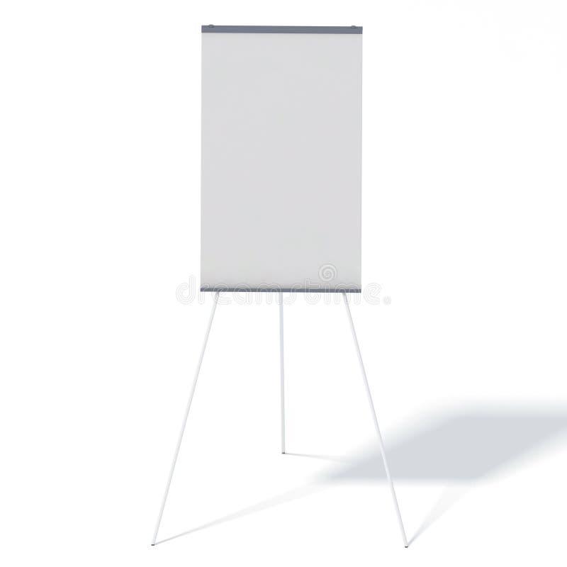 Blank portable projection screen stock illustration