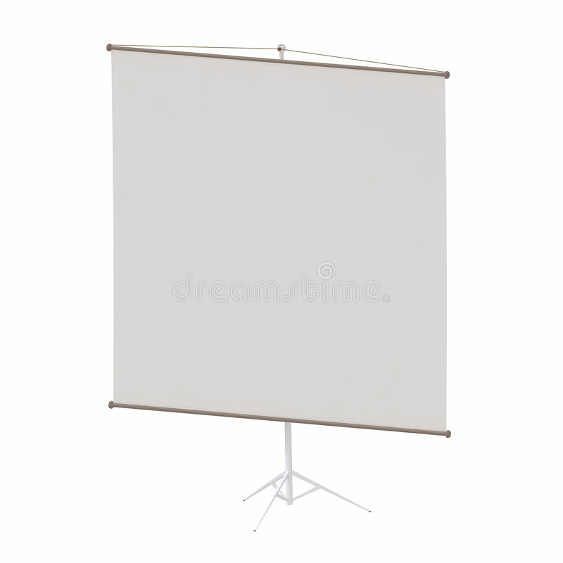 Download Blank Portable Projection Screen Stock Illustration - Illustration of tripod, projector: 19537873