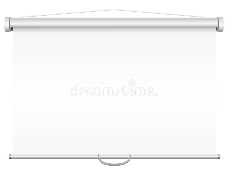 Blank portable projection screen vector illustration