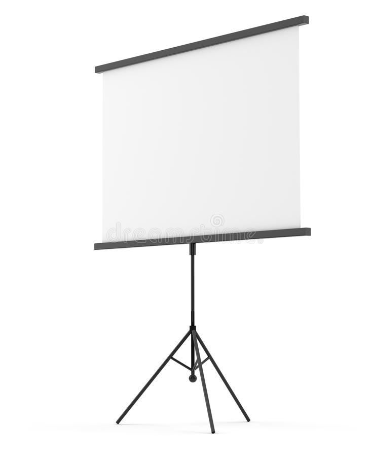 Blank portable projection screen royalty free illustration
