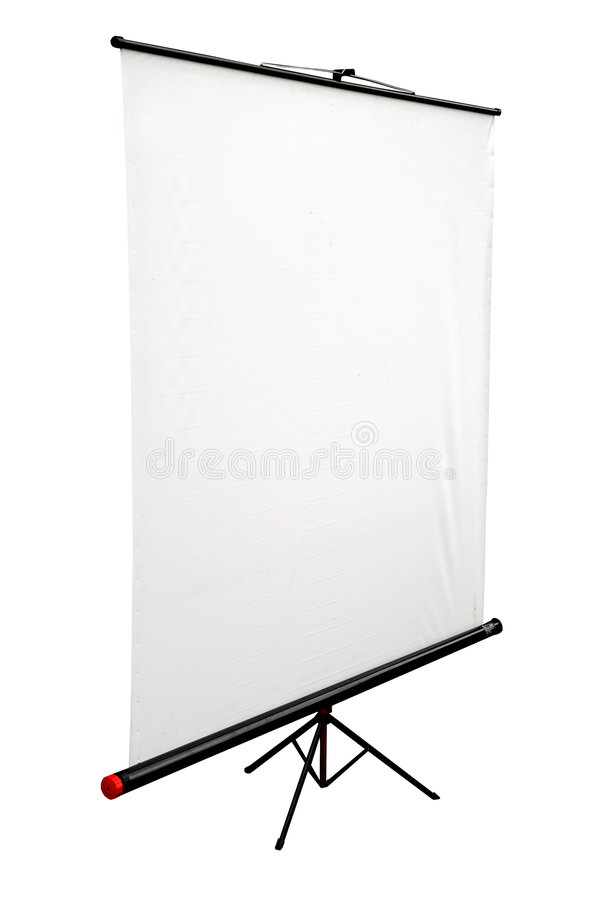 Free Blank Portable Projector Screen Royalty Free Stock Photo - 3773365