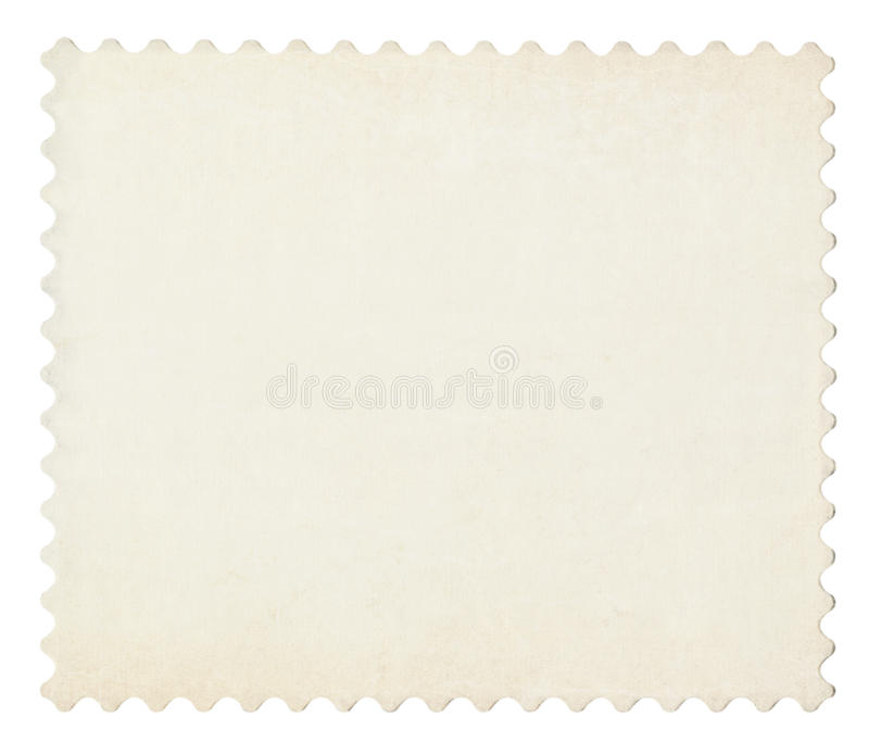 Blank post aged stamp isolated on white. vector illustration