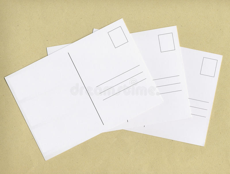 Blank post cards with copy space. Blank postcards useful as a background with copy space stock photo