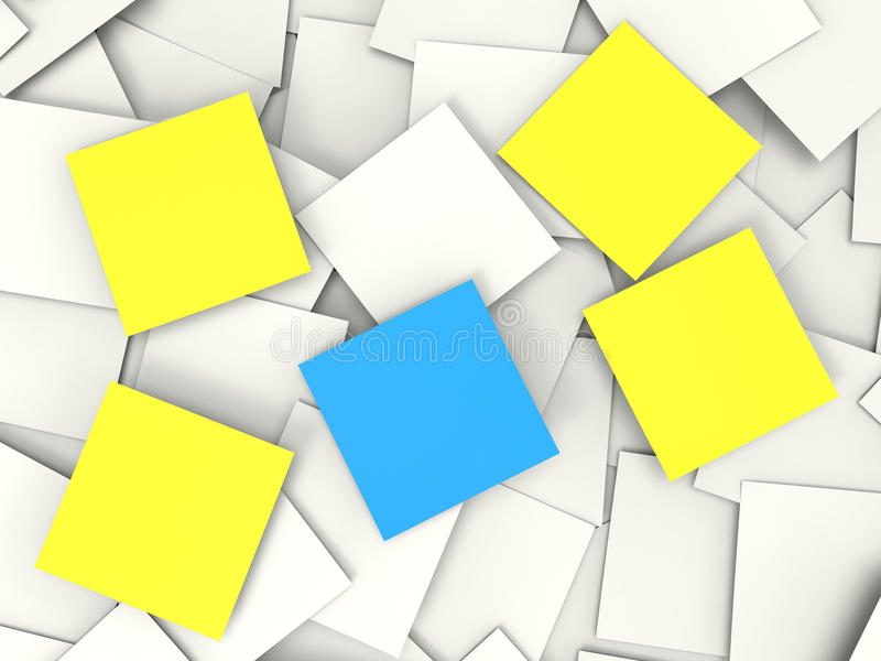 Blank Post it Messages Shows Copyspace To Do And Notices. Blank Post it Messages Showing Copyspace To Do And Notices vector illustration