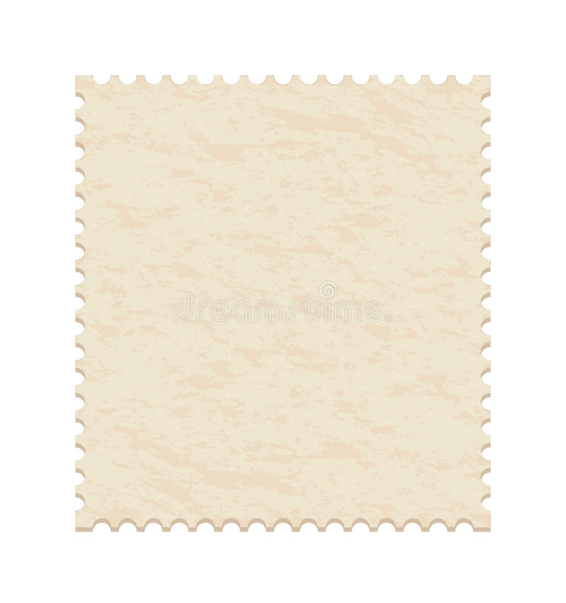 Blank post stamp vector illustration