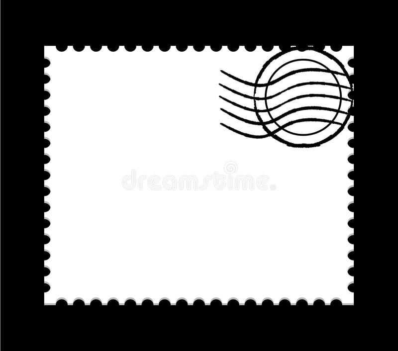 Blank post stamp royalty free illustration