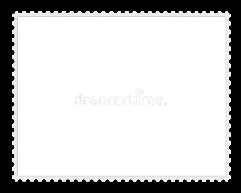 Blank Postage Stamp Background royalty free stock image