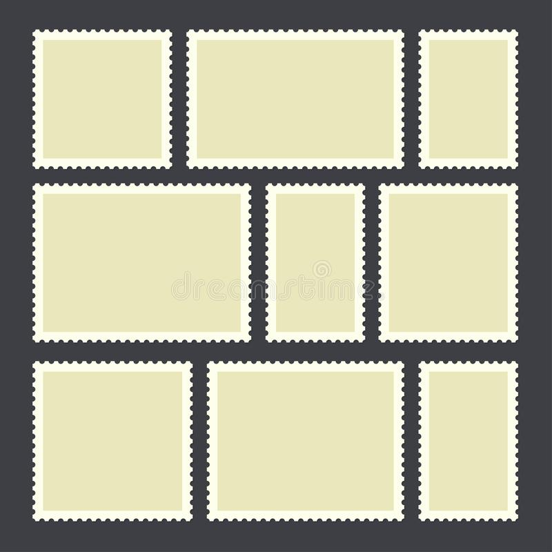 Blank postage stamp vector illustration