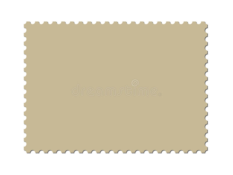 A blank postage stamp template (vector included). Blank postage stamp template for design royalty free illustration