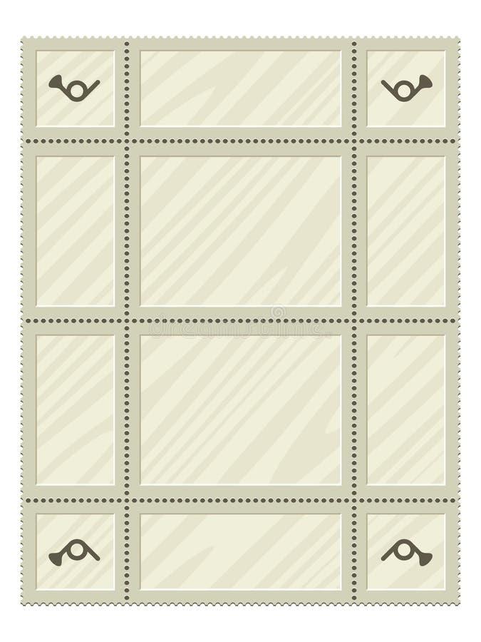 Blank Postage Stamps Set stock illustration