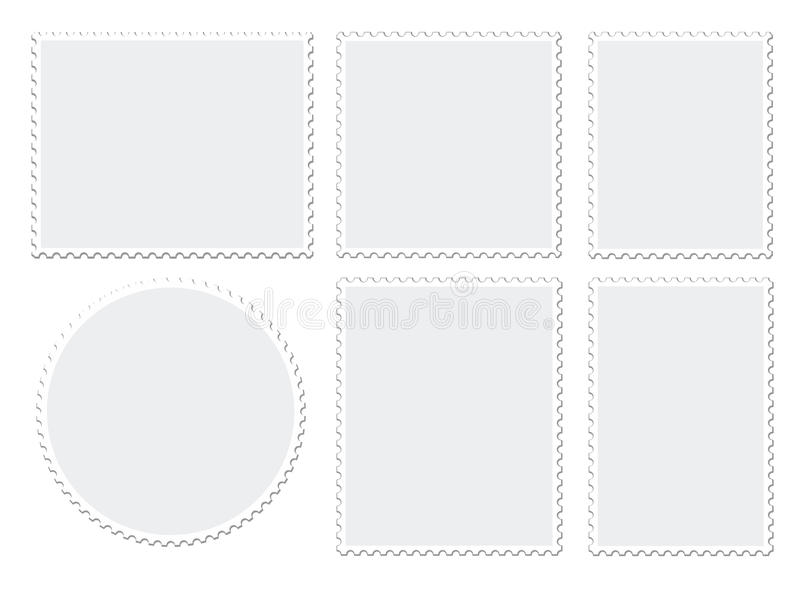 Blank postage stamps royalty free stock photos