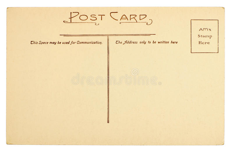 Blank Postcard. Isolated on White stock image
