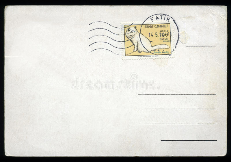 Download Blank postcard with stamp stock image. Image of grunge - 9702527