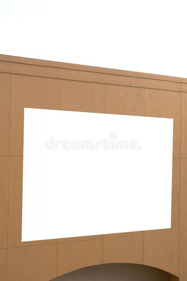 Blank poster board wall in modern shopping mall. Blank poster board wall in the modern shopping mall royalty free stock image