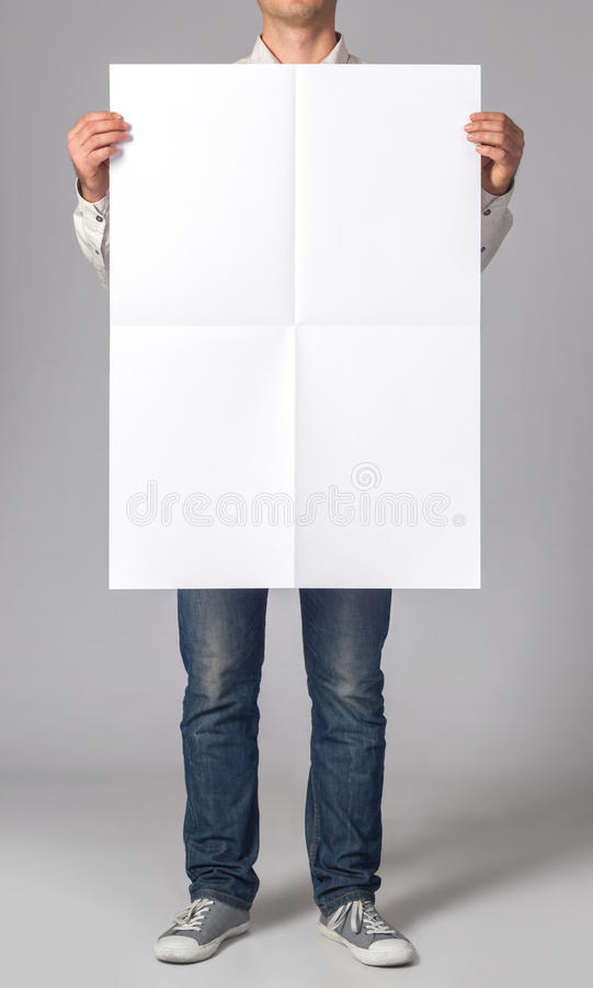 Blank poster royalty free stock image