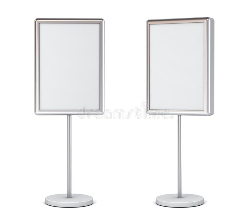 Blank Light Circle Signboards With Pole Stand Blank Mock Up