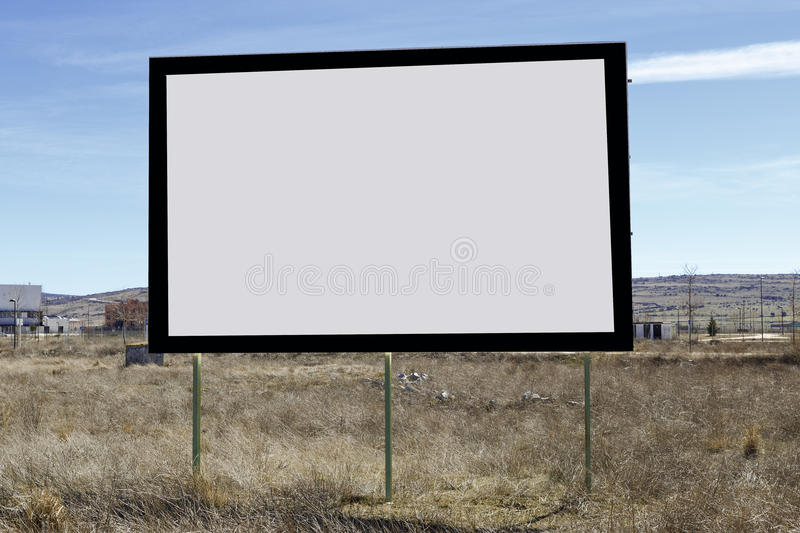 Blank poster on the street. To put your advertisement royalty free stock photos