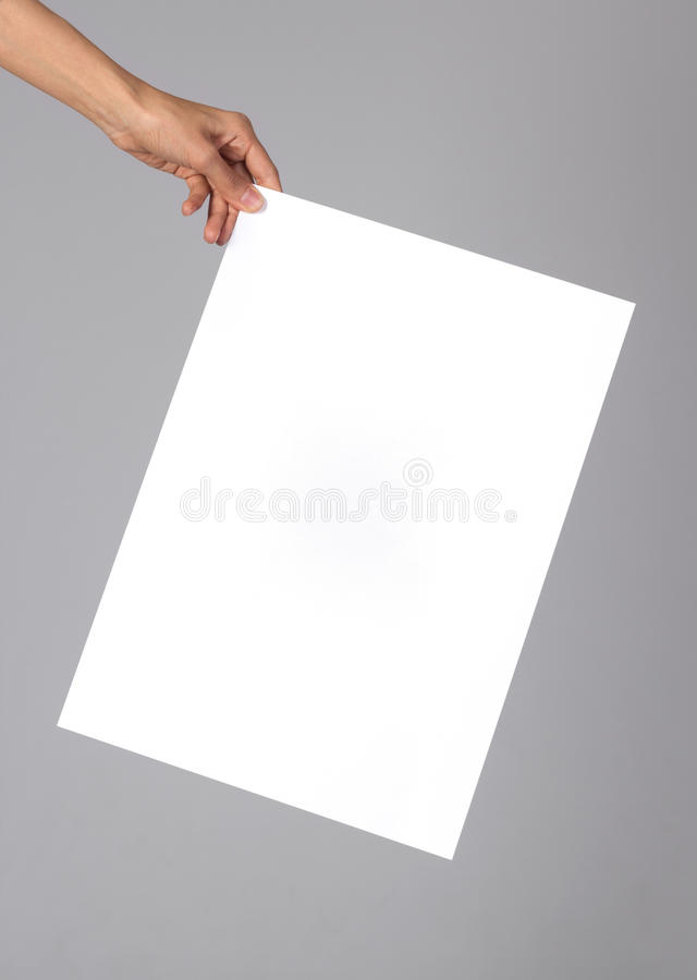 Blank poster stock photography