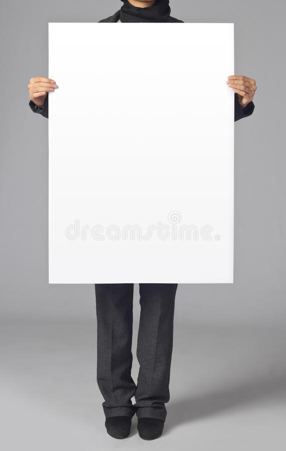 Blank poster stock photos
