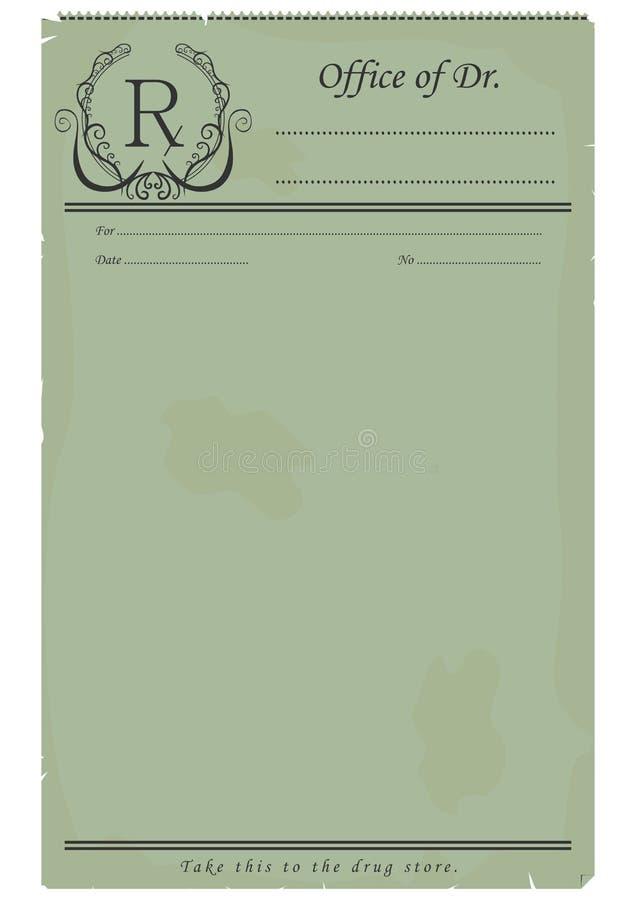 Blank prescription. royalty free illustration
