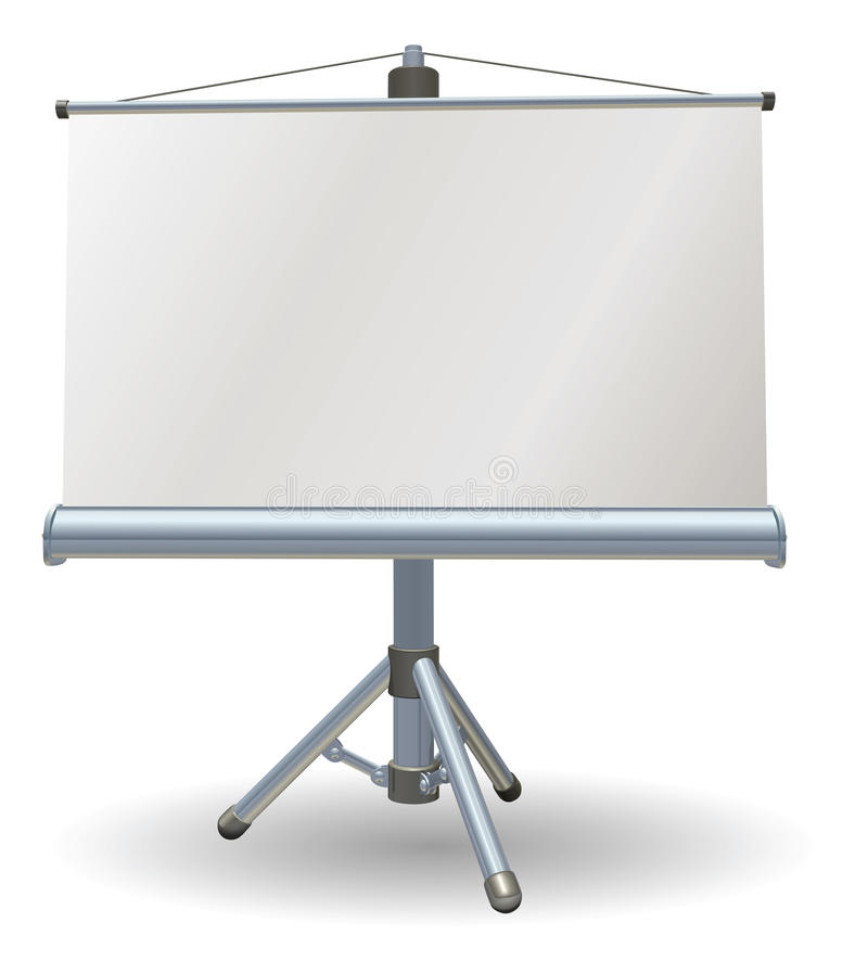Blank presentation or projector roller screen royalty free illustration