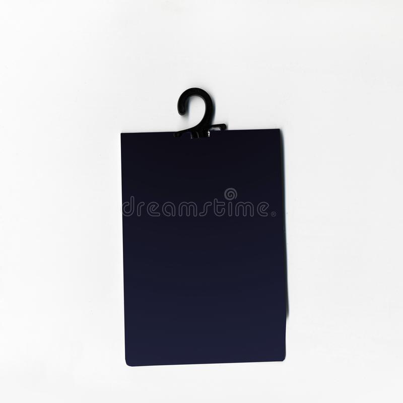 Blank price tag or label with thread isolated white background. stock images