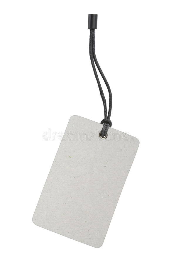 Blank Product Label Tag. Blank product info label isolated on white background with clipping path royalty free stock photos