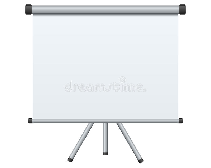 Download Blank Projection Screen stock vector. Image of empty - 21197804